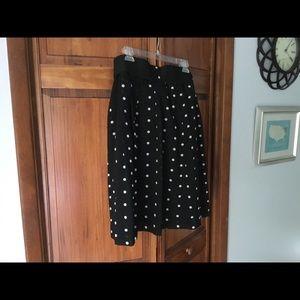 Lightweight polka dot skirt